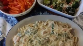 Texas~And creamy garlic Tuscan shrimp~