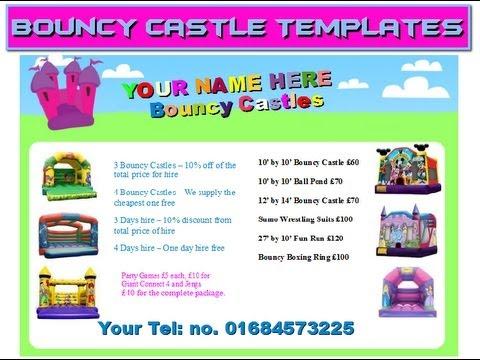 bounce house flyer template - Acurlunamedia