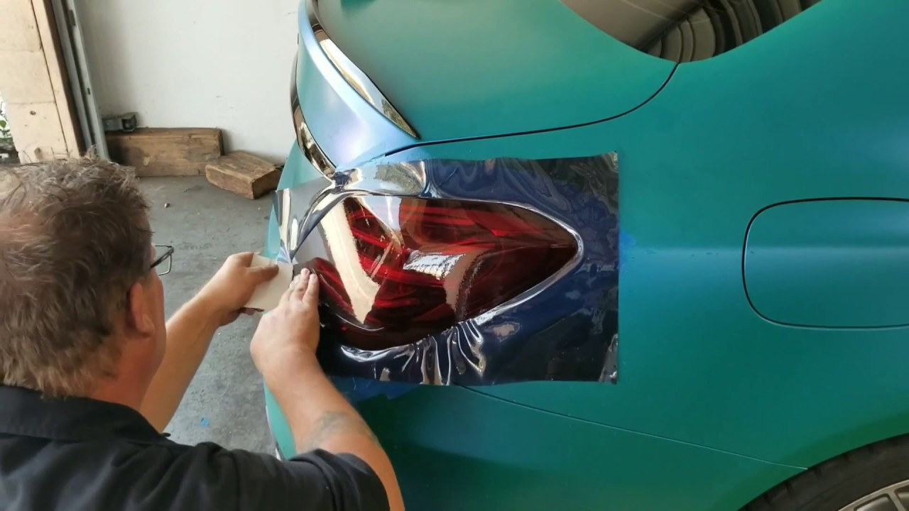 Tinting Tail Lights On A Amg C63s Reverse Cut Out Using Lamin X Film