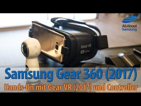 Samsung Gear 360 (2017), GearVR (2017) und Gear VR Controller mit dem Galaxy S8 ausprobiert
