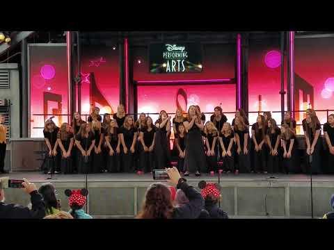 Hughson High School's choir Sound Investment performing at Disneyland March 22, 2019