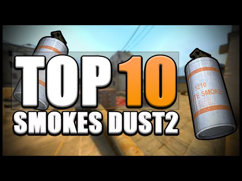 ▶[CS:GO] TOP 10 AWESOME SMOKES DUST2 | Smoke Guide Tutorial | Easy Smokes