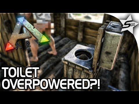TOILET OVERPOWERED?! - HARPOON GUN, MOTORBOAT, TOILET in ARK Survival Evolved - ARK NEW UPDATE 258