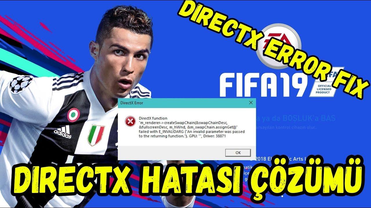 Fifa 19 Directx Hatası Çözümü (Directx Error Fix)