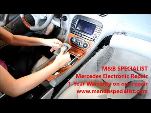 How to remove Mercedes SL Command Unit for repair