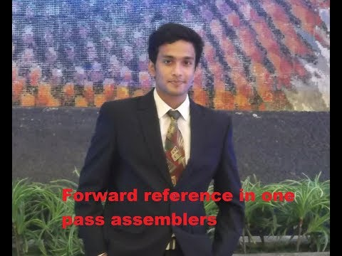 Forward Reference problem in one pass assembler