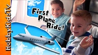 HobbyKids 1st PLANE RIDE to a Snow Vacation