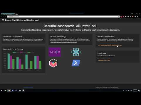 Getting Started with PowerShell Universal Dashboard