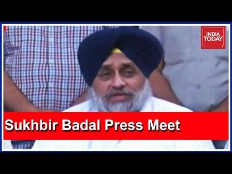 Sukhbir Badal Press Meet Targeting Punjab Govt Over #AmritsarTrainTragedy