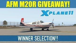 AFM Mooney M20R Ovation For X Plane 11 GIVEAWAY - WINNER SELECTION