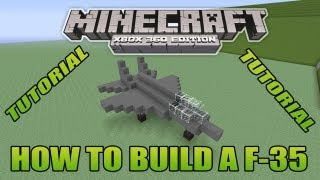 Minecraft Xbox Edition Tutorial How To Build A F-35 (old version)