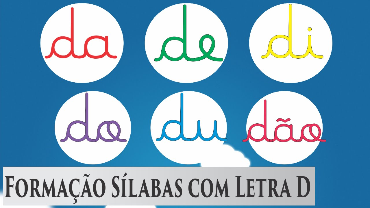 Amado Aprender a ler Da De Di Do Du Dão - Sílabas Simples - YouTube OT16