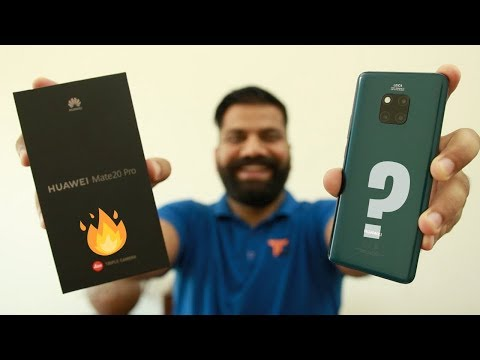 Huawei Mate 20 Pro Unboxing & First Look - Triple Cameras, AI & More
