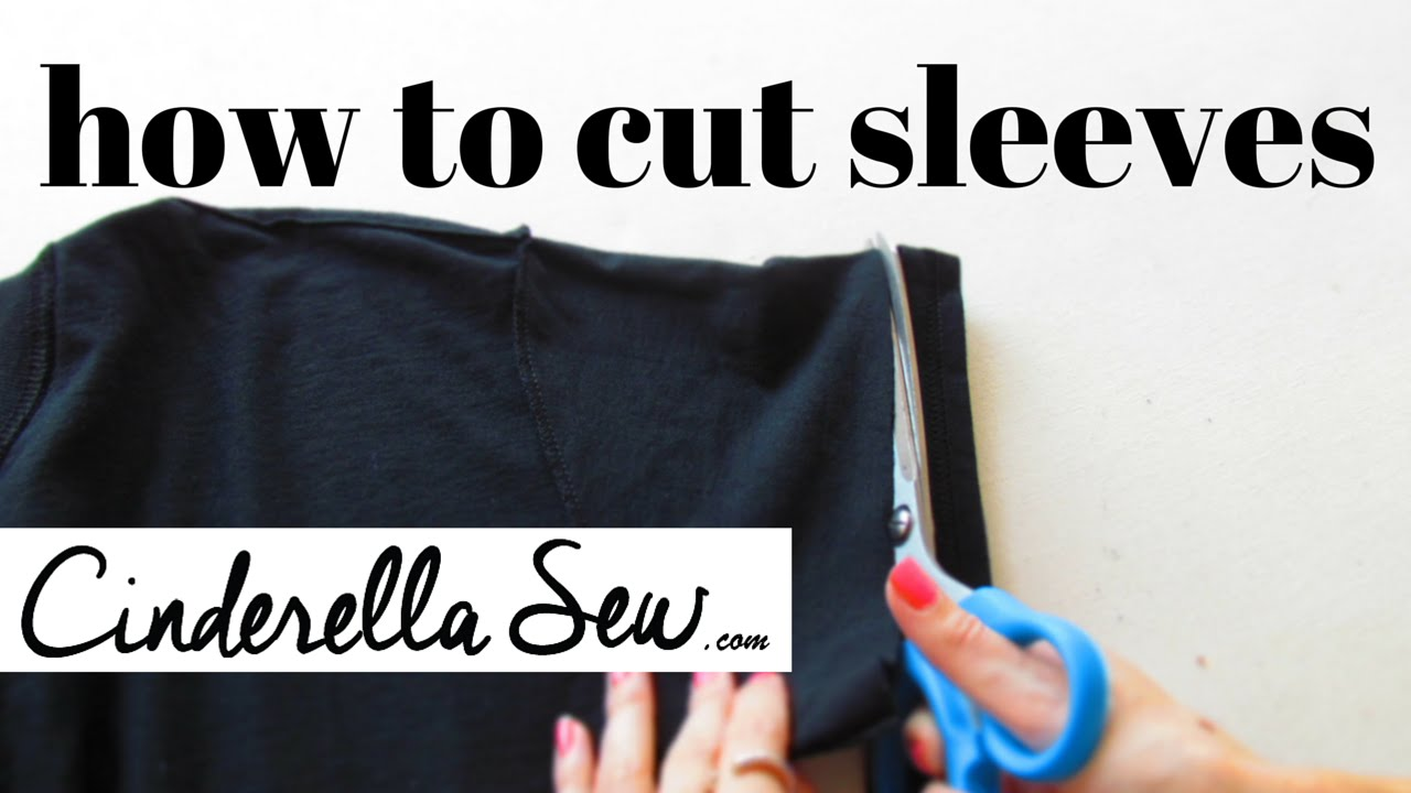 Cut tshirt sleeves shorten sleeves easy fast diy t for How to cut sleeves off a shirt