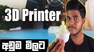Best Budget 3D Printer - මිල අඩුම 3D Pinter එක