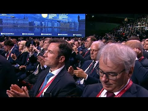 China & Russia's presidents deliver address at St Petersburg economic forum