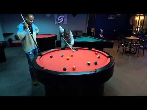Round billiard and unique tables in Spinn Bar Cebu