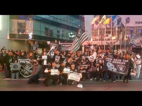 12-20-2015 Bring Back the Los Angeles Raiders Rally @ L.A. Live