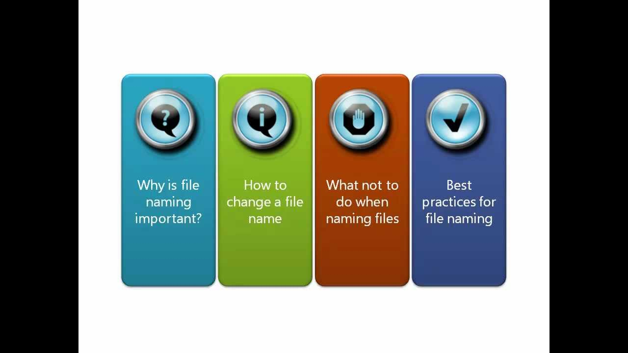 Part 4 Best Practices For File Naming Youtube