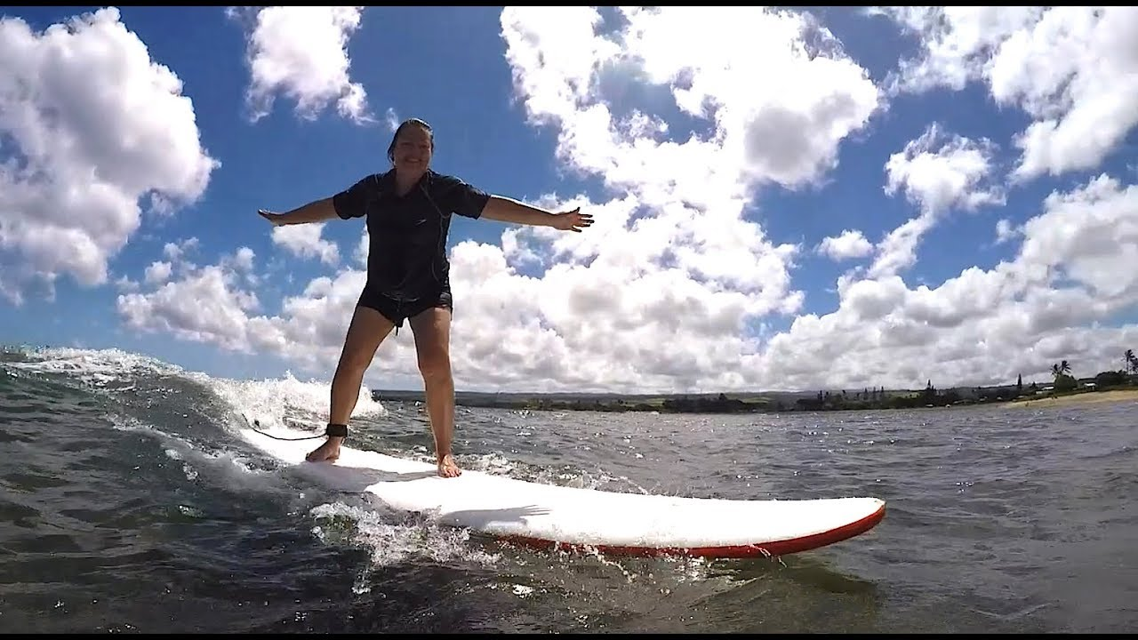 First Time Surfing in Oahu, Hawaii
