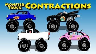 Monster Truck Contractions - Learn Contractions With Cool Monster Trucks