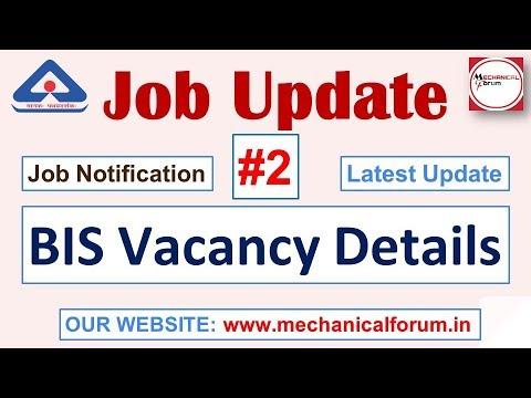 Job Update #2, BIS- Bureau of Indian Standards Job Notification
