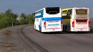 🔴 Extreme Bus Driving Skills India | Risky Overtake | Euro Truck Simulator 2 Best Volvo Bus Mod