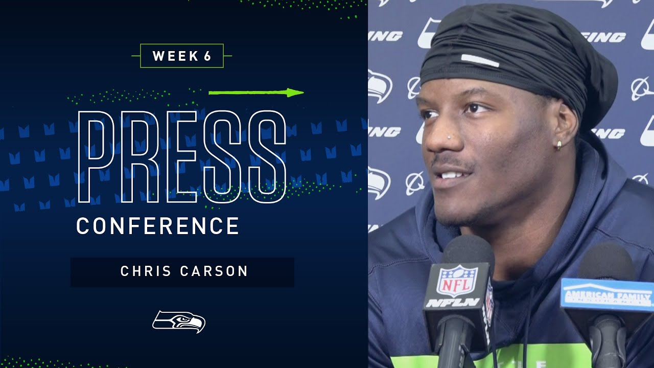 Running Back Chris Carson Week 6 Press Conference | 2019 Seattle Seahawks