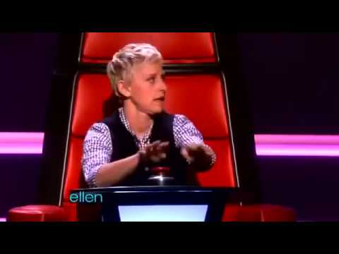 Ellen - Major fail on trying out as The Voice judge