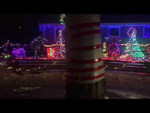 Christmas Holidays Lights on Candy Cane Lane in West Allis, Wisconsin, USA Part1