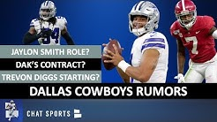 Cowboys Rumors On Dak Record Contract, Trevon Diggs Starting, Jaylon Smith Role & Tony Pollard Usage