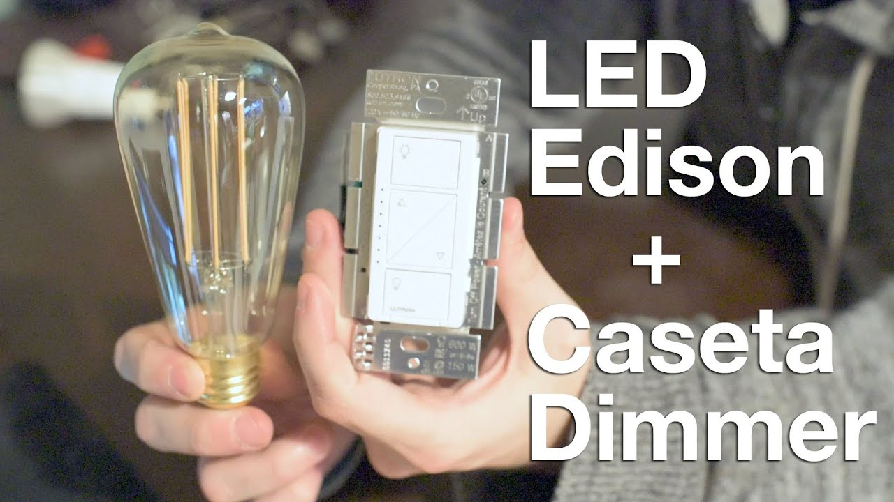 Dimming Edison Style LED Bulbs with Lutron Caseta - YouTube:,Lighting