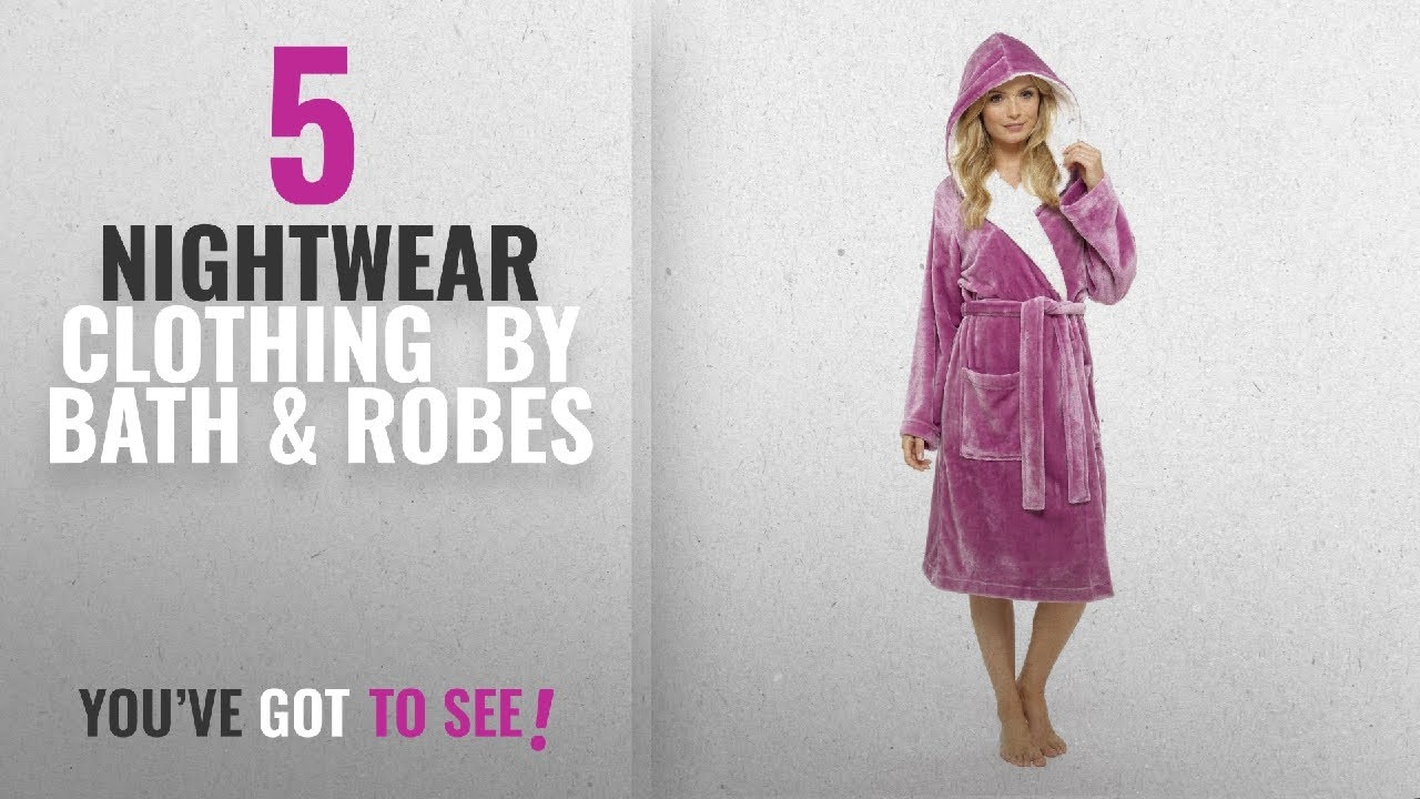 fb0a8e990a Top 10 Bath   Robes Nightwear Clothing  2018   CityComfort® Luxury Dressing  Gown Ladies Super Soft