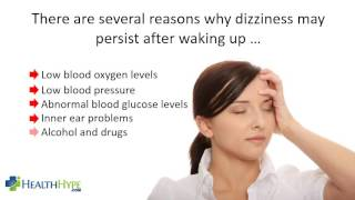 Morning Dizziness Causes in the morning