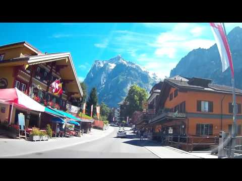 Grindelwald, Switzerland by car on 30.07.2016