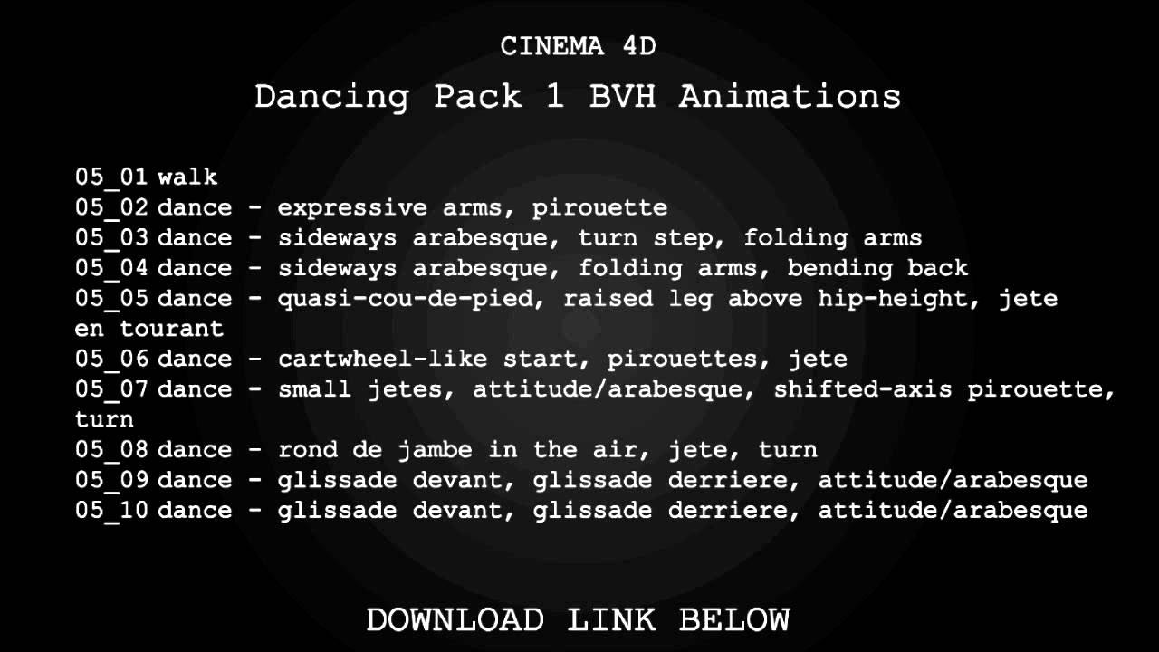 dance bvh files free download