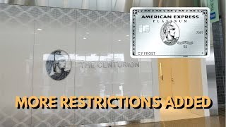 Amex Adds MORE Restrictions to Centurion Lounge Access (Platinum Cardholders) thumbnail