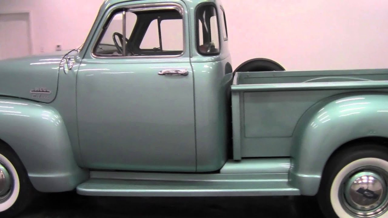 1954 chevrolet 3100 deluxe 5 window cab pickup youtube for 1954 chevy truck 5 window