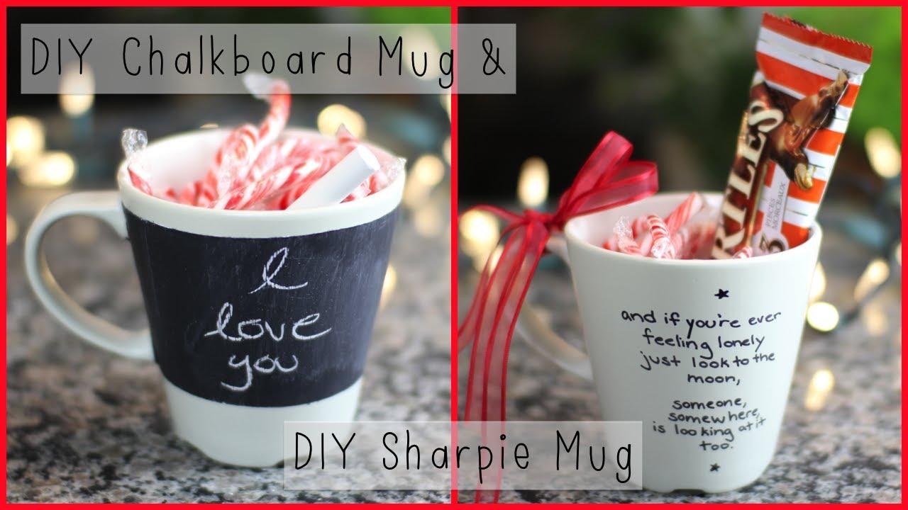 Chalkboard Glass Jar Mugs