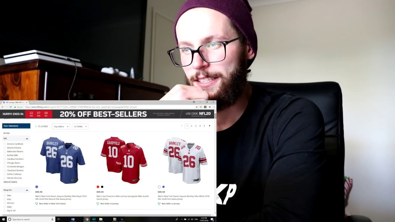 Rugby Player Buys First Ever NFL Players Jersey! - YouTube 3418ef895
