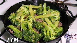 Easy Ground Beef Recipe~Broccoli and Beef with Teriyaki Sauce