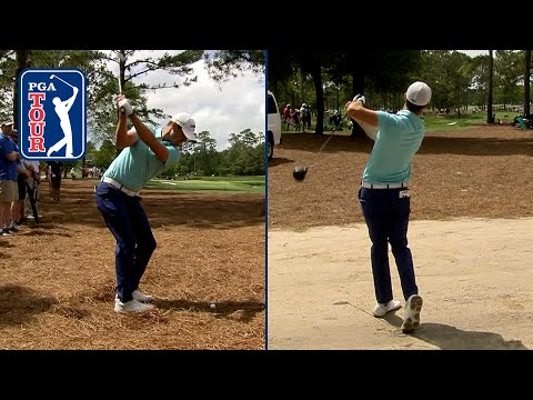 Driver off the dirt sets up improbable birdie for Wesley Bryan at Wells Fargo in 2019