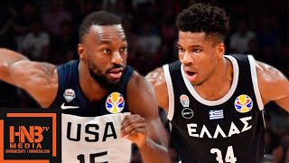 USA vs Greece - Full Game Highlights | FIBA World Cup 2019