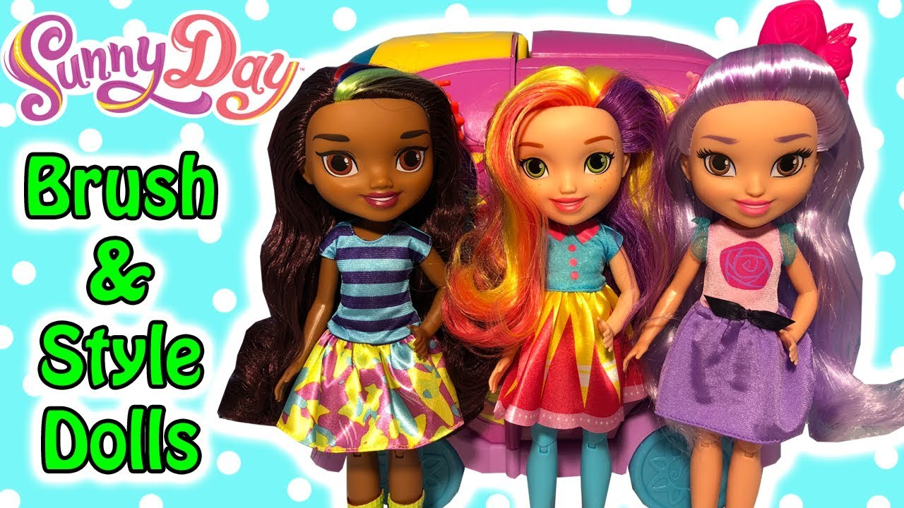 """New Nick Jr. Sunny Day Brush & Style Blair And Rox 11"""" Dolls Unboxing & Review"""