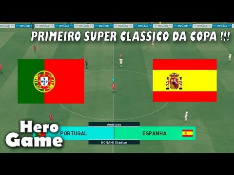 Portugal X Espanha (  COPA DO MUNDO NA RÚSSIA )  PES 18