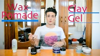 Hair Products - Wax, Pomade, Clay, Gel ~ What's the Difference?