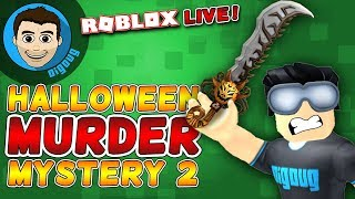 Roblox Murder Mystery Halloween 2 Update LIVE!! DigDugPlays Game Night Live : Ep 36