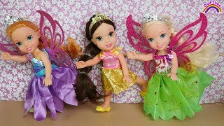 BALLERINA!  Elsa & Anna toddler dolls -  Ballet class - dancing - gymnastics - Barbie is teacher