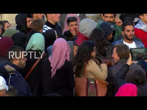 East Jerusalem: Protesters take to historic Damascus Gate against Trump declaration