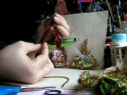 Vintage Dresden Tinsel Ornaments! By Lisa Kettell!